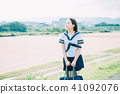 High school student of uniform 41092076