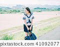 High school student of uniform 41092077