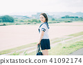 High school student of uniform 41092174