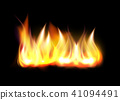 Realistic fire flame element 41094491