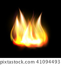 Realistic burning fire flame element 41094493
