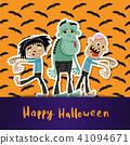 zombie, halloween, poster 41094671