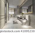 luxury modern design bathroom and toilet 41095230