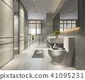 luxury modern design bathroom and toilet 41095231