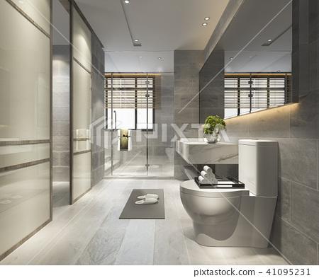 luxury modern design bathroom and toilet 41095231
