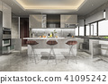 beautiful modern kitchen with dining bar 41095242