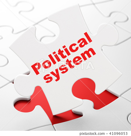 Political concept: Political System on puzzle background 41096053