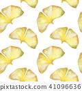 Seamless pattern with Autumn ginkgo leaf 41096636