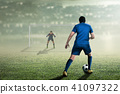 Attractive asian soccer player on the match 41097322