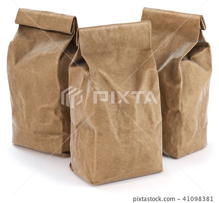 Brown paper food bag packaging 41098381