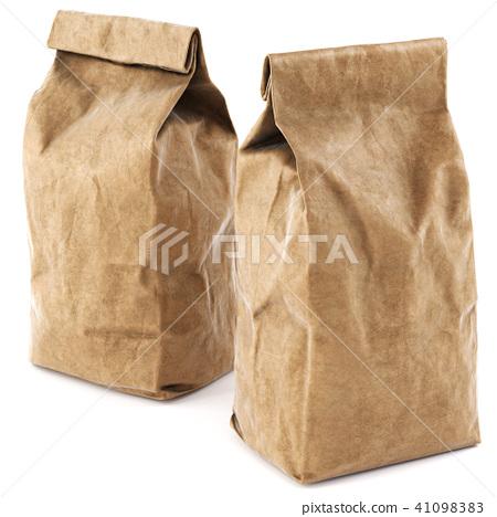Brown paper food bag packaging 41098383