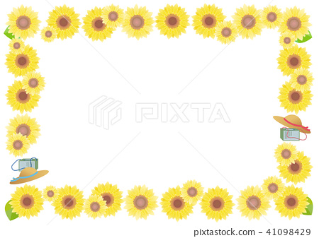 summer, frame, white background - Stock Illustration [41098429] - PIXTA