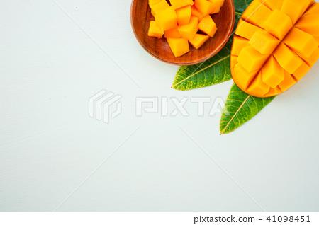 芒果切成薄片的芒果切塊 41098451