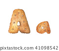 Cookie letter A on white background. 41098542