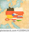 Map of Central Europe - Flags of all countries 41099419