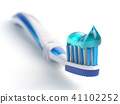 Toothbrush with paste isolated on white 41102252