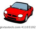 경량 오픈카 빨간 자동차 일러스트 41103102