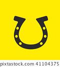 horse horseshoe  -logo on yellow background 41104375