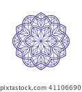 Outlined mandala for coloring or stained-glass 41106690
