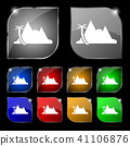 Mirage icon sign. Set of ten colorful buttons with 41106876
