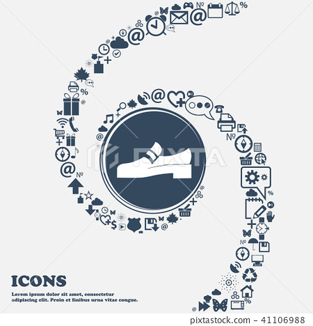 Shoe icon in the center. Around the many beautiful 41106988