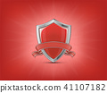 shield, vector, ribbon 41107182