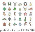 christmas, icon, set 41107204