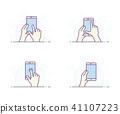 Smartphone gesture icon 41107223