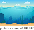 vector underwater sea 41108287
