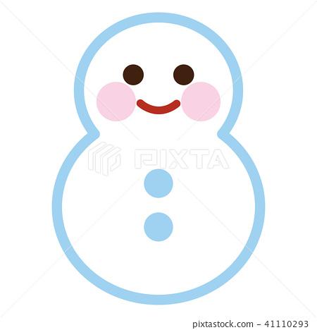 Snowman Snowmen Marks Stock Illustration 41110293 Pixta