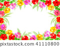 hibiscus palm frame 41110800