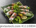Raw spring roll Vietnamese food Vietnamese variety 41110894