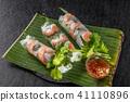 Raw spring roll Vietnamese food Vietnamese variety 41110896