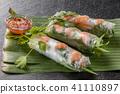Raw spring roll Vietnamese food Vietnamese variety 41110897