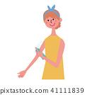 婦女夾子繪畫浪花驅蟲劑 41111839