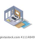 Vector isometric bedroom icon. 41114649