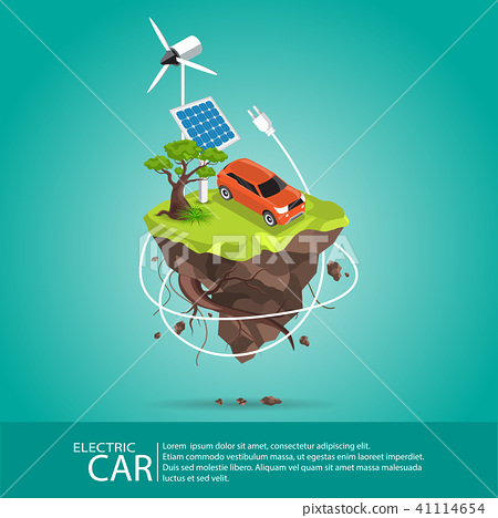 Isometric Electric cars charging  41114654