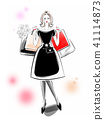Shopping black dress 41114873