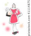 购物红色礼服 41114875