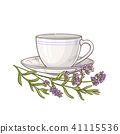 lavender tea illustration 41115536
