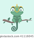 Cute chameleon. Vector illustration. 41116045