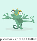 Cute chameleon. Vector illustration. 41116049