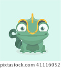 Cute chameleon. Vector illustration. 41116052