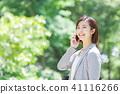Suit female office lady fresh green OL business suits portrait recruit 41116266