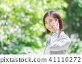 Suit female office lady fresh green OL business suits portrait recruit 41116272