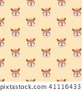 Cute stylized cartoon kangaroo pattern on pastel b 41116433