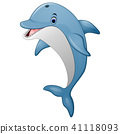 Standing Dolphin cartoon 41118093