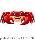 Cartoon red marine crab 41118094