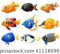 Fish cartoon set 41118096