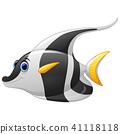 Masked banner fish cartoon  41118118